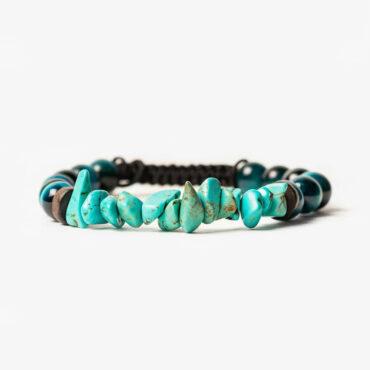 دستبند پاور با سنگهای فیروزه