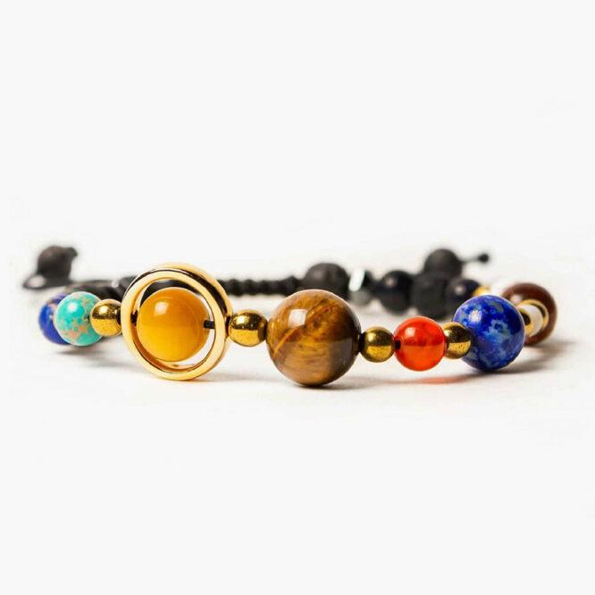 دستبند منظومه شمسی با سنگهای معدنی اصل