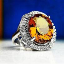 انگشتر نقره جواهرى الکساندرت