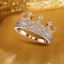 انگشتر طلا طرح تاج ویژه مراسم ازدواج
