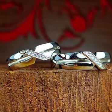 ست حلقه جواهری نقره با نگین اتمی